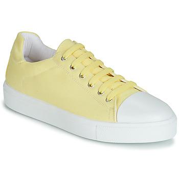 Schuhe Damen Sneaker Low André SAMANA Gelb