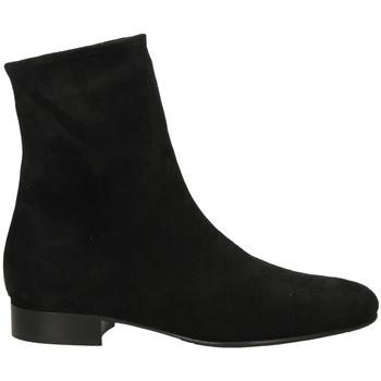 Schuhe Damen Boots Lorenzo Masiero STRECH VELOUR nero-nero
