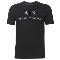 Kleidung Herren T-Shirts Armani Exchange 8NZTCJ-Z8H4Z-1200 Schwarz