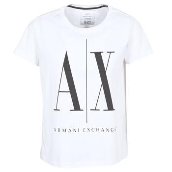 Kleidung Damen T-Shirts Armani Exchange 8NYTCX-YJG3Z-5102 Weiss