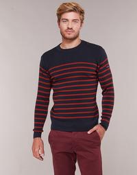 Kleidung Herren Pullover Armor Lux LEOPOLD Marine / Rot