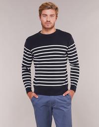 Kleidung Herren Pullover Armor Lux MARIO Marine / Weiss