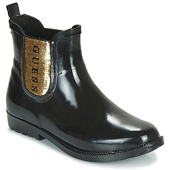 Schuhe Damen Gummistiefel Guess REKHA3 Schwarz / Gold
