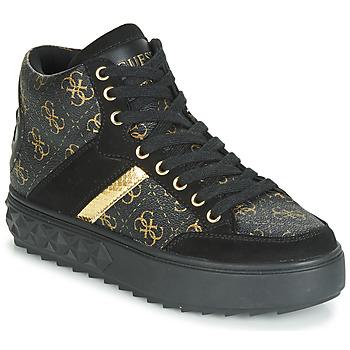 Schuhe Damen Sneaker High Guess FIXIN Schwarz