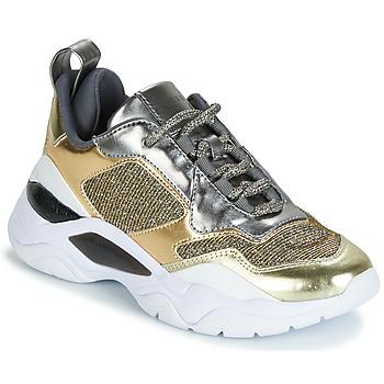 Schuhe Damen Sneaker Low Guess FURNER Silbern / Goldfarben