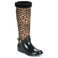 Schuhe Damen Gummistiefel Guess CICELY Schwarz / Leopard