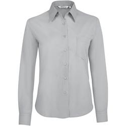 Kleidung Damen Hemden Sols EXECUTIVE POPELIN WORK Gris
