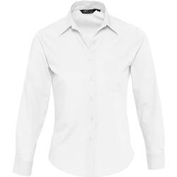 Kleidung Damen Hemden Sols EXECUTIVE POPELIN WORK Blanco