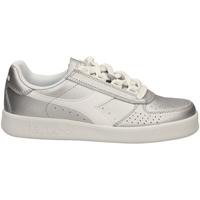 Schuhe Damen Sneaker Low Diadora B.ELITE L METALLIC W argme-argento