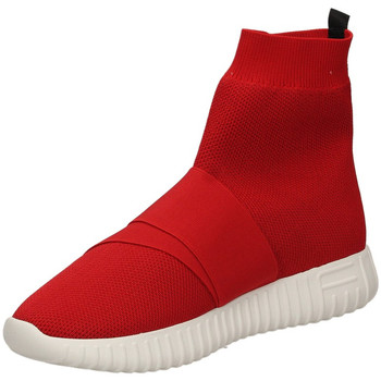 Schuhe Damen Sneaker High Fessura DINGHY KNIT red-rosso