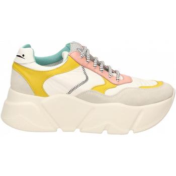 Schuhe Damen Sneaker Low Voile Blanche CREEP bianco-giallo