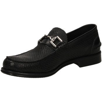 Schuhe Herren Slipper Brecos OXFORD IKARO nero-nero