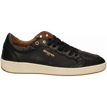 Schuhe Herren Sneaker Low Blauer MURRAY01 - MAN LEATHER SNEAKERS blk-black