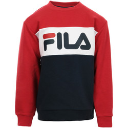 Kleidung Kinder Sweatshirts Fila Kids Night Blocked Crew Sweat Blau