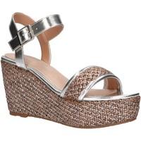 Schuhe Damen Leinen-Pantoletten mit gefloch Maria Mare 67494 Plateado