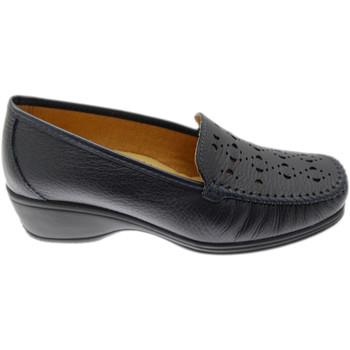Schuhe Damen Slipper Calzaturificio Loren LOK4002bl blu