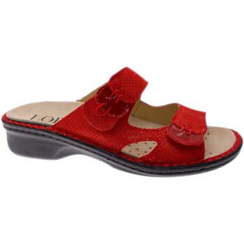 Schuhe Damen Pantoffel Calzaturificio Loren LOM2772ro rosso