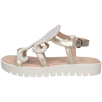 Schuhe Kinder Sandalen / Sandaletten Florens F781426D PLATINO/BIA Sandalen Kind Platin / Weiß Platin / Weiß