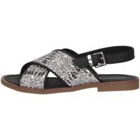 Schuhe Kinder Sandalen / Sandaletten Florens F778557A ARGENT/NERO Silber / Schwarz