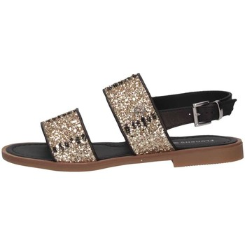 Schuhe Kinder Sandalen / Sandaletten Florens F778457D ORO/NERO Sandalen Kind Gold / Schwarz Gold / Schwarz