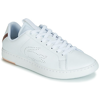 Schuhe Damen Sneaker Low Lacoste CARNABY EVO LIGHT-WT 119 3 Weiss / Rose