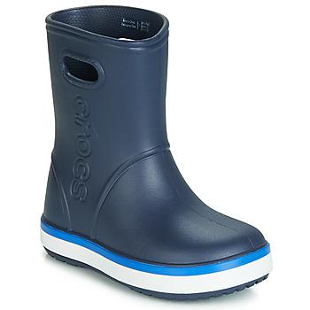 Schuhe Kinder Gummistiefel Crocs CROCBAND RAIN BOOT K Marine