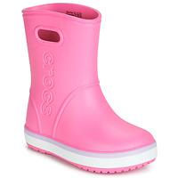 Schuhe Mädchen Gummistiefel Crocs CROCBAND RAIN BOOT K Rose