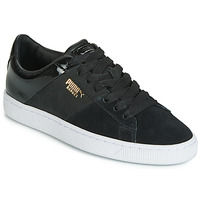 Schuhe Damen Sneaker Low Puma BASKET REMIX Schwarz / Goldfarben