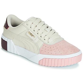 Schuhe Damen Sneaker Low Puma CALI REMIX Weiss / Rose