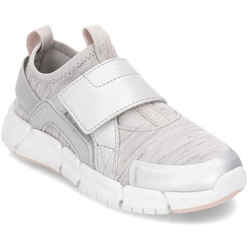 Schuhe Kinder Slip on Geox Junior Flexyper Grau,Silber