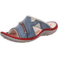 Schuhe Damen Pantoffel Krisbut Pantoletten 2209-7-1 blau