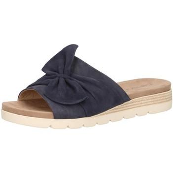 Schuhe Damen Pantoffel Caprice Pantoletten 9-9-27104-22 blau
