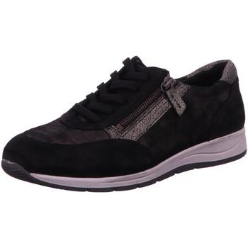 Schuhe Damen Sneaker Low Longo Schnuerschuhe 3073462-1 1 schwarz
