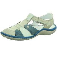 Schuhe Damen Sportliche Sandalen Krisbut Slipper 2221-1-1 grau