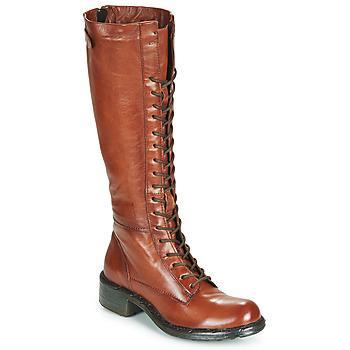 Schuhe Damen Klassische Stiefel Dream in Green WADDAH Cognac