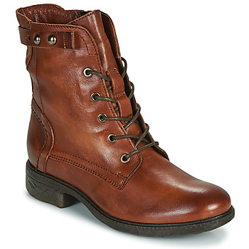 Schuhe Damen Boots Dream in Green ERVANE Cognac