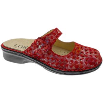 Schuhe Damen Pantoffel Calzaturificio Loren LOM2709ro rosso