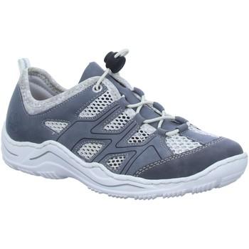 Schuhe Damen Sportliche Sandalen Rieker Slipper Slipper Halbschuh gelocht oder geflochten L0534-14 blau