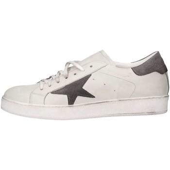 Schuhe Herren Sneaker Low Made In Italia TRI101 2 Sneaker Mann Weiß / Grau Weiß / Grau