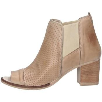 Schuhe Damen Ankle Boots Made In Italia 3112 BEIGE Stiefeletten Frau beige beige
