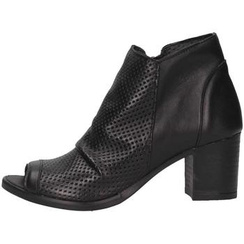Schuhe Damen Low Boots Made In Italia 0308 NERO Stiefeletten Frau schwarz schwarz