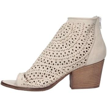 Schuhe Damen Low Boots Metisse SP811 NABUK BIANCO Stiefeletten Frau weiß weiß