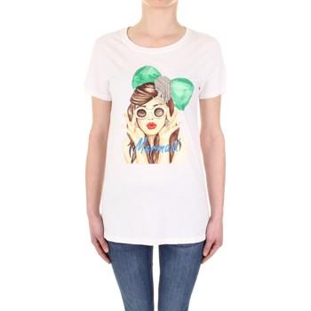 Kleidung Damen T-Shirts Vicolo RU0081 Creme