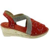 Schuhe Damen Leinen-Pantoletten mit gefloch Toni Pons TOPBREDAro rosso