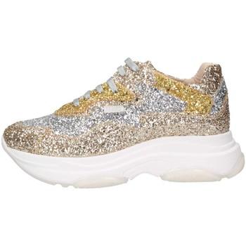Schuhe Kinder Sneaker Low Florens F7588FVB PLATINO/ARG Sneaker Kind Platin Platin