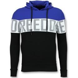 Kleidung Herren Sweatshirts Enos Hoodies Für Striped Hooded Schwarz, Blau