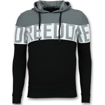 Kleidung Herren Sweatshirts Enos Striped Hoodies Hoodies Schwarz, Grau