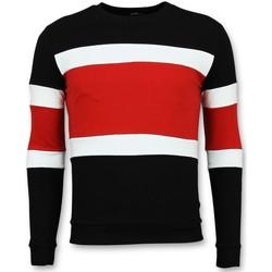 Kleidung Herren Pullover Enos Billige Gestreifte FR Schwarz, Rot