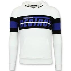 Kleidung Herren Sweatshirts Enos Hoodies Slim Striped Hoodies Weiß