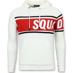 Kleidung Herren Sweatshirts Enos Hoodies Striped Hoodies Weib Weiß
